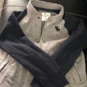 Boys Abercrombie snap light weight jacket